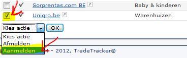 aanmelden bij een tradetracker campagne