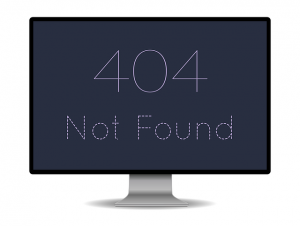 website 404 error