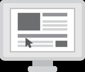 website op beeldscherm