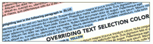 Tekst selectie kleur